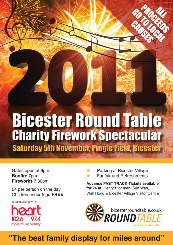 Bicester Round Table Charity Firework Spectacular 2011