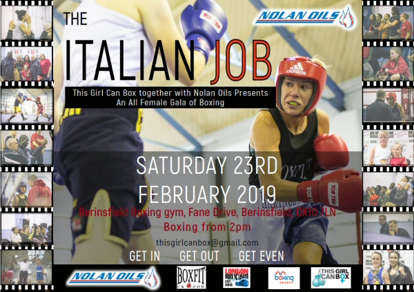 """Nolan Oils are supporting the all-female boxing extravaganza """" The Italian Job!"""